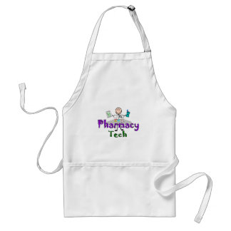 Pharmacy Tech Stick People Design Gifts Apron
