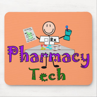 Pharmacy Tech Stick People Design Gifts Mouse Pad