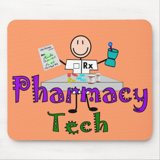 Pharmacy Tech Stick People Design Gifts Mouse Pads