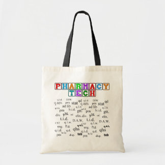 Pharmacy Tech Tote With Rx Abbreviations Bags