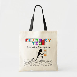 Pharmacy Tech Tote With Rx Abbreviations Stickman