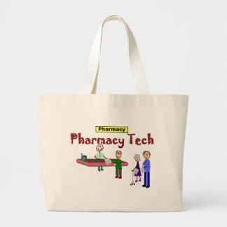 Pharmacy Tech With Customers Design Jumbo Tote Bag
