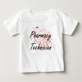 Pharmacy Technician Artistic Job Design with Butte Baby T-Shirt