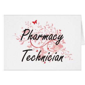 Pharmacy Technician Artistic Job Design with Butte Card