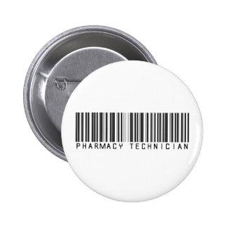 Pharmacy Technician Bar Code Pinback Button
