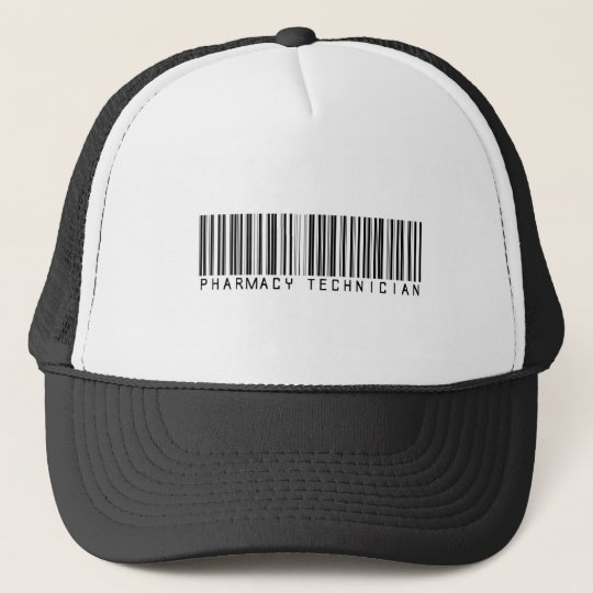 Pharmacy Technician Bar Code Trucker Hat