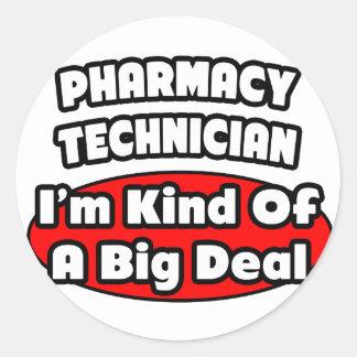 Pharmacy Technician .. Big Deal Classic Round Sticker