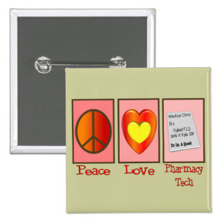 Pharmacy Technician Gifts 2 Inch Square Button