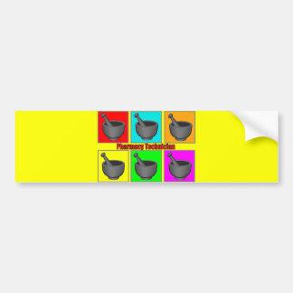 Pharmacy Technician Popart Gifts Bumper Sticker