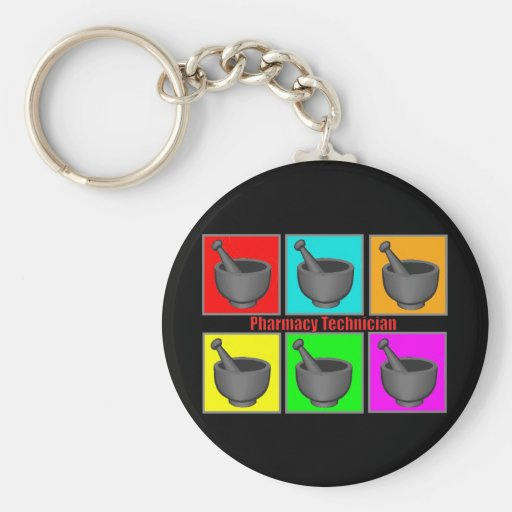 Pharmacy Technician Popart Gifts Keychains