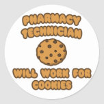 Pharmacy Technician .. Will Work for Cookies Stickers