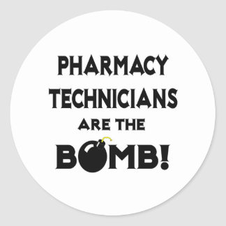 Pharmacy Technicians Are The Bomb! Classic Round Sticker