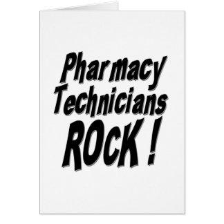 Pharmacy Technicians Rock! Greeting Card