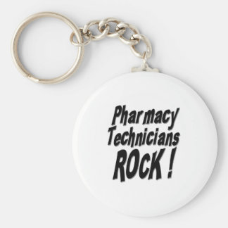 Pharmacy Technicians Rock! Keychain