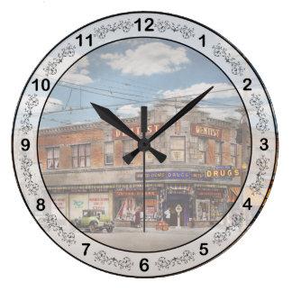 Pharmacy - The corner drugstore 1910 Large Clock
