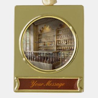 Pharmacy - The corner pharmacy Gold Plated Banner Ornament