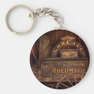 Pharmacy - The Rheumatic Cure wagon Basic Round Button Keychain
