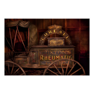 Pharmacy - The Rheumatic Cure wagon Poster