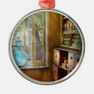 Pharmacy - The show globe Round Metal Christmas Ornament