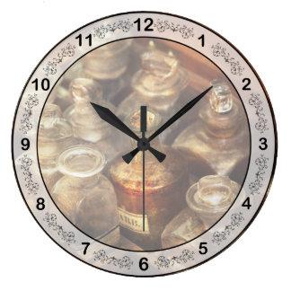 Pharmacy - The traveling case Large Clock
