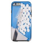 Pharmacy tools, pills, medication tough iPhone 6 case