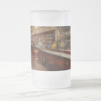 Pharmacy - W.B. Danforth Drugs 1895 Frosted Glass Beer Mug