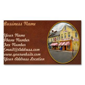 Pharmacy - WL Bond Drugs and Seeds 1927 Magnetic Business Card