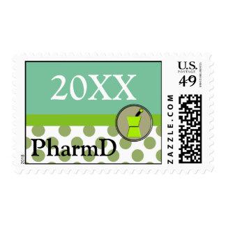 PharmD 20XX Graduation Postage Stamps Customizable