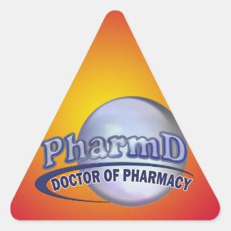 PharmD  BLUE LOGO -  DOCTOR OF PHARMACY Triangle Sticker