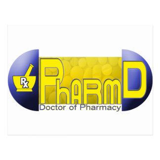 PharmD - doctor de la PÍLDORA de la farmacia Postales
