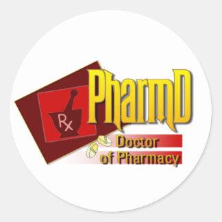 PharmD Doctor of Pharmacy LOGO Classic Round Sticker
