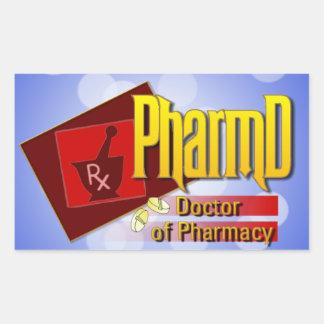 PharmD Doctor of Pharmacy LOGO Rectangular Sticker
