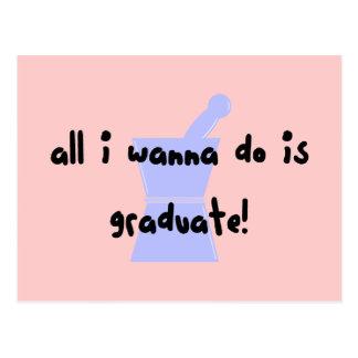 """PharmD (estudiante de la farmacia) """"quiere graduar Postal"""
