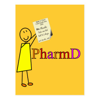 PharmD Pharmacy Student Gifts Postcard