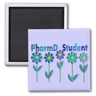 PharmD Student BLUE FLOWERS Magnet