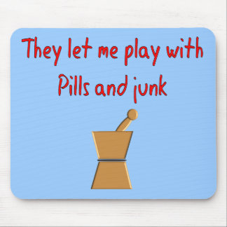 """PharmD Student Gifts --Hilarious """"Play With Pills"""" Mouse Pad"""