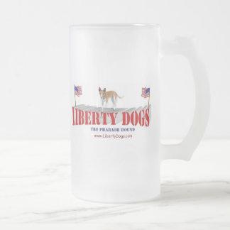 Pharoah Hound Frosted Glass Beer Mug