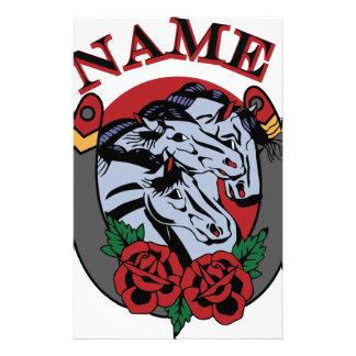 Pharoahs Horses Name Stationery