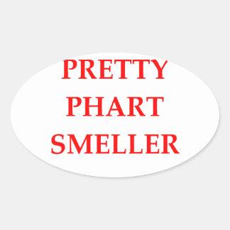 phart smeller oval stickers