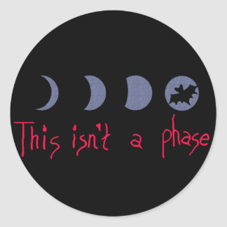 Phases Classic Round Sticker