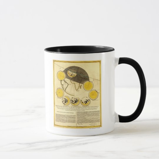 Phases of the Moon Around the Earth Map Mug