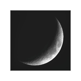 PHASES OF THE MOON, CRESCENT MOON. PHOTO 3 OF 5 CANVAS PRINT