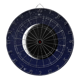 Phases of the Moon Dartboard With Darts
