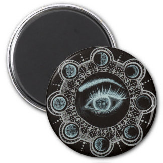 Phases of the Moon Eye 2 Inch Round Magnet