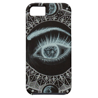 Phases of the Moon Eye.jpg iPhone SE/5/5s Case