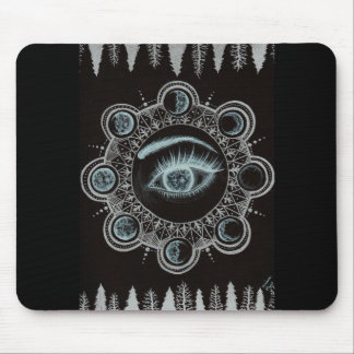 Phases of the Moon Eye Mouse Pad