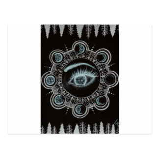 Phases of the Moon Eye Postcard