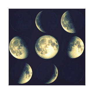 Phases of The Moon ~ Lunar Cycle Canvas Print