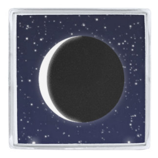 Phases of the Moon, new moon Lapel Pin