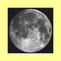 PHASES OF THE MOON SERIES, FULL MOON. PHOTO 1 OF 5 CANVAS PRINT